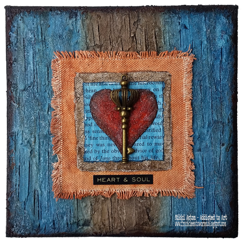 Heart and Soul Mixed Media Canvas - by Nikki Acton