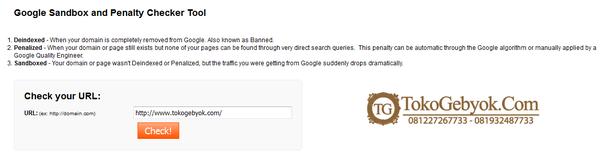 Tips Mengatasi Google Sanbox dengan Cepat - Gebyok Jepara