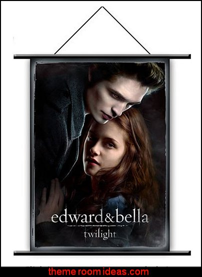 Edward and Bella  Wall Scroll   twilight bedroom decorating ideas - twilight bedroom decor - twilight bedroom ideas  -  twilight saga home decor - twilight saga themed bedroom ideas - bedding ideas for a twilight bedroom  - twilight jacob bedroom ideas  -  twilight edward bedroom decorating ideas -  twilight bella swan bedroom ideas -  Twilight Saga Movie Posters  - Twilight themed bedroom for teens - movie themed bedroom ideas