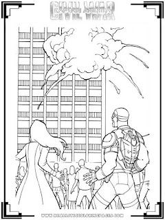 captain america civil war 2016 free coloring pictures
