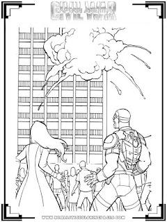 Captain America:Civil War Printable Coloring Pages