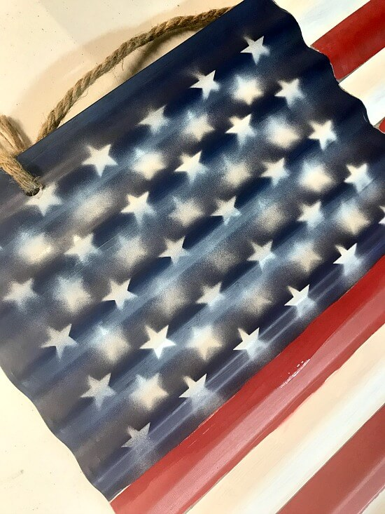 Artsy stars on an American Flag