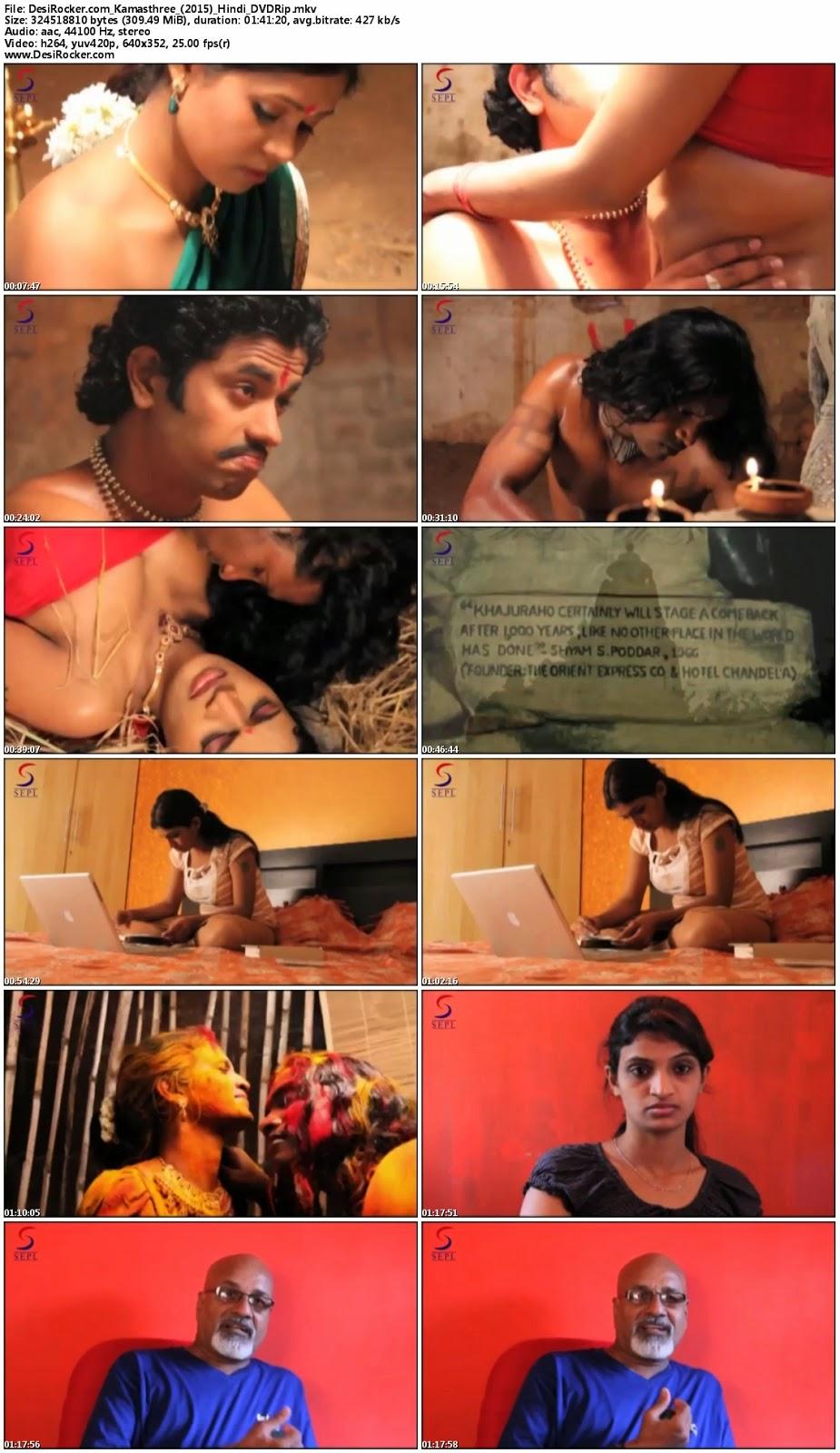 Download 18+ Kamasthree (2015) Hindi Movie DVDRip 300MB