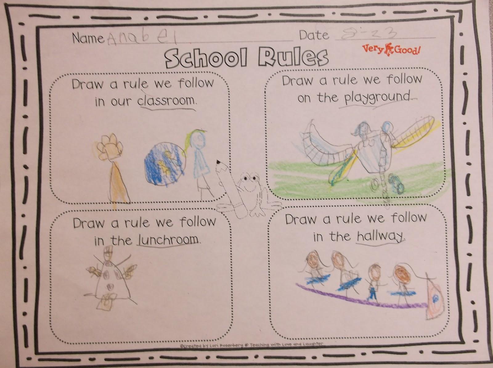 Rules In Kindergarten