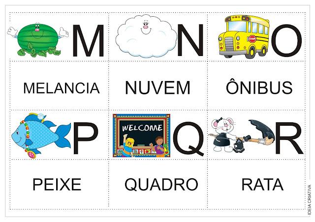 Trabalhando com Alfabeto: Jogo da Memória PRONTO PARA IMPRIMIR