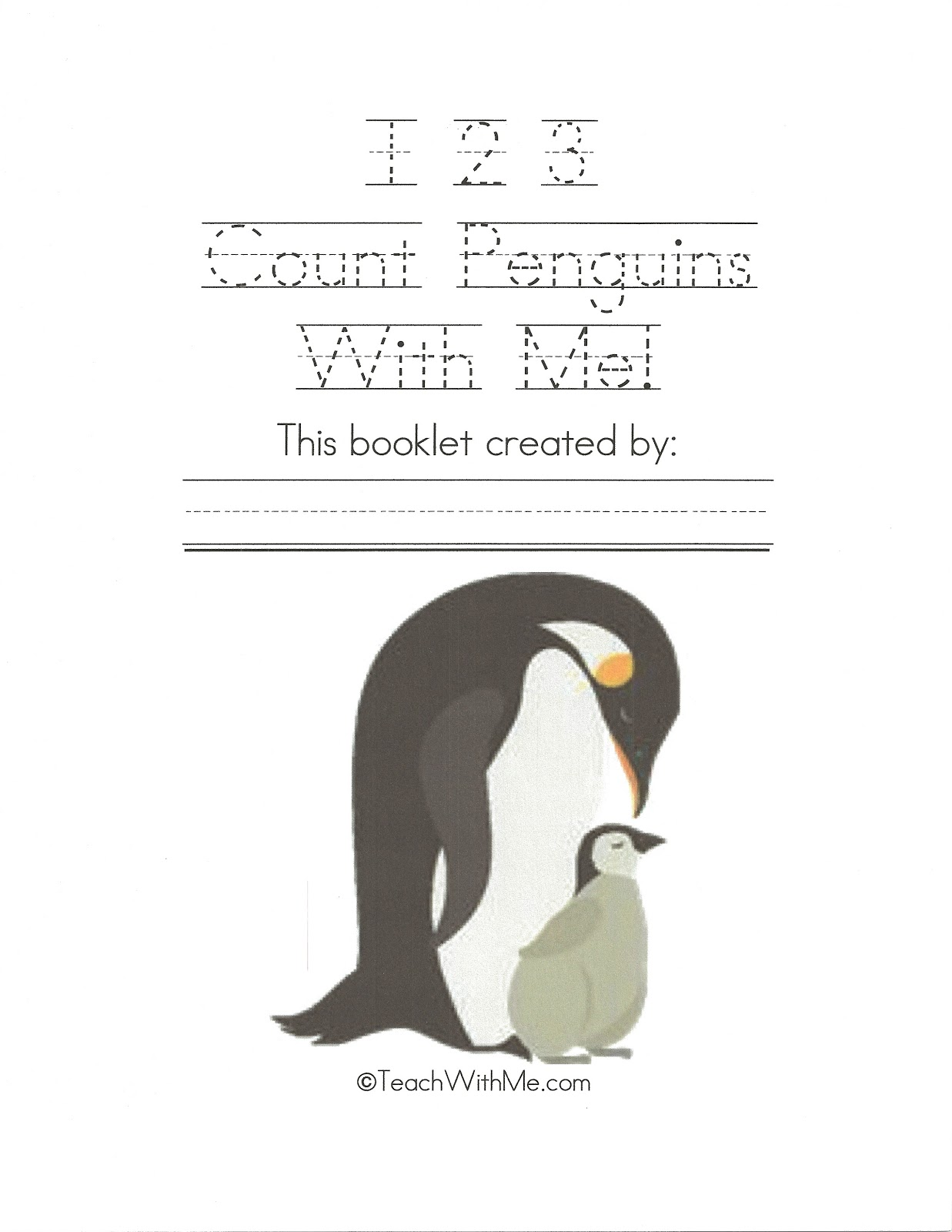 1 2 3 Count Penguins With Me