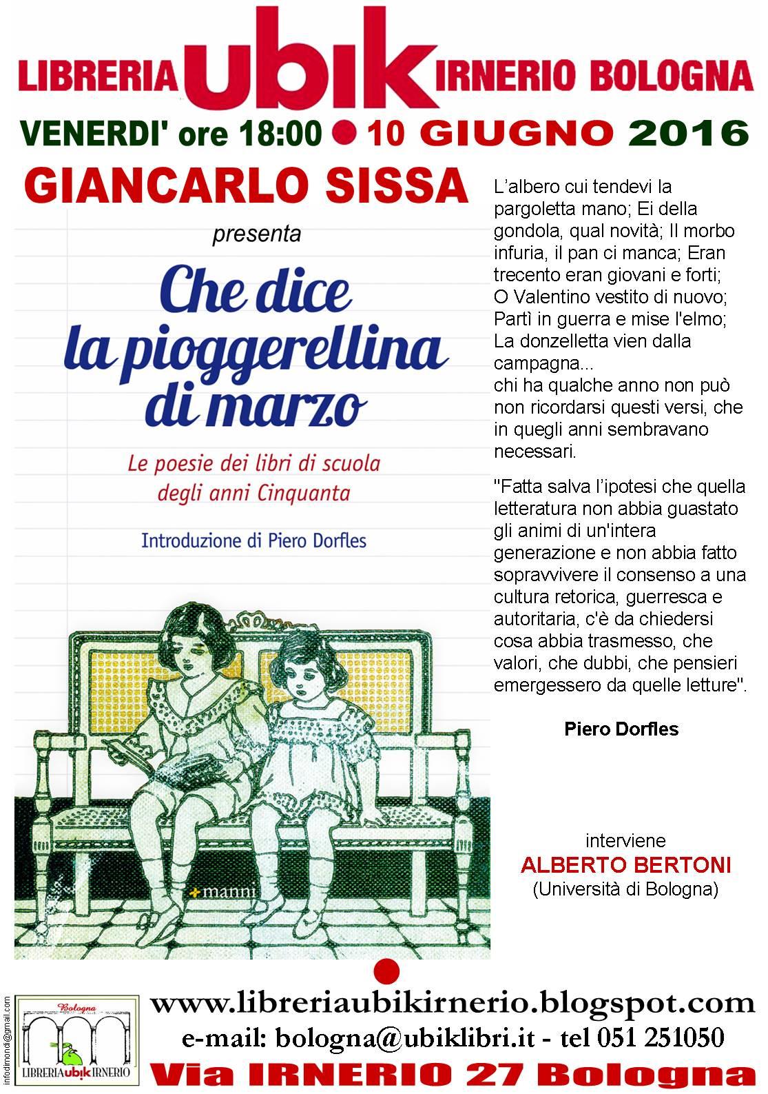 Libreria Irnerio Bologna Giancarlo Sissa Presenta Che Dice La