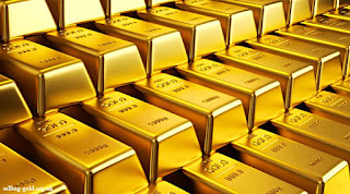 Emas Turun ke Level Terendah Dalam 3 Pekan