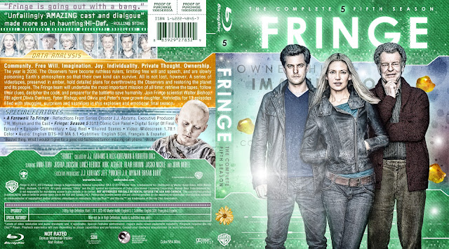 Fringe Season 5 Bluray Cover