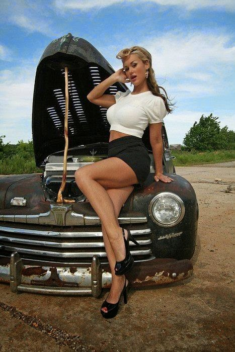Naked chick rat rod you cannot