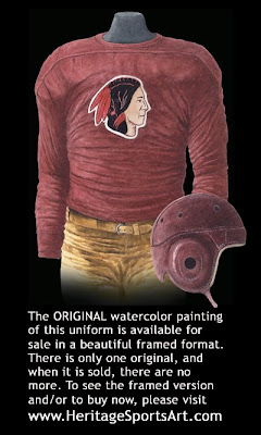 Boston Redskins 1933 uniform -Washington Redskins 1933 uniform