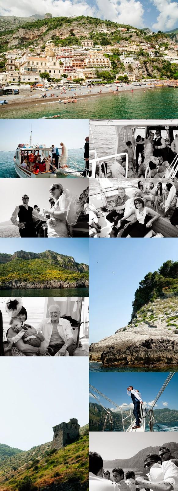 Wedding boat tour from Positano to Nerano