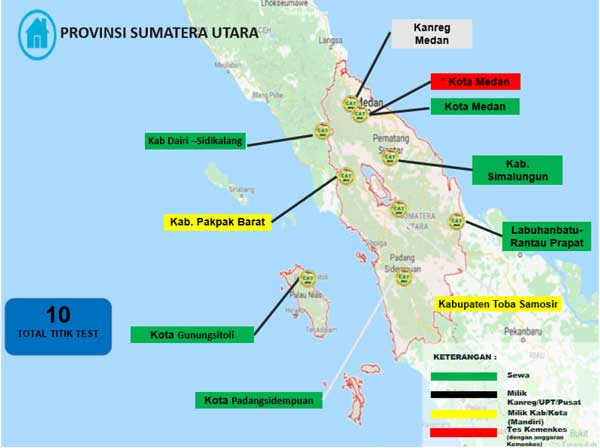 Lokasi Tes Cat BKN Propinsi Sumatera Utara