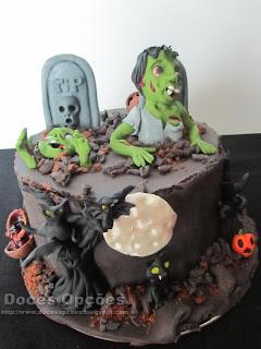 bragança Halloween bolo