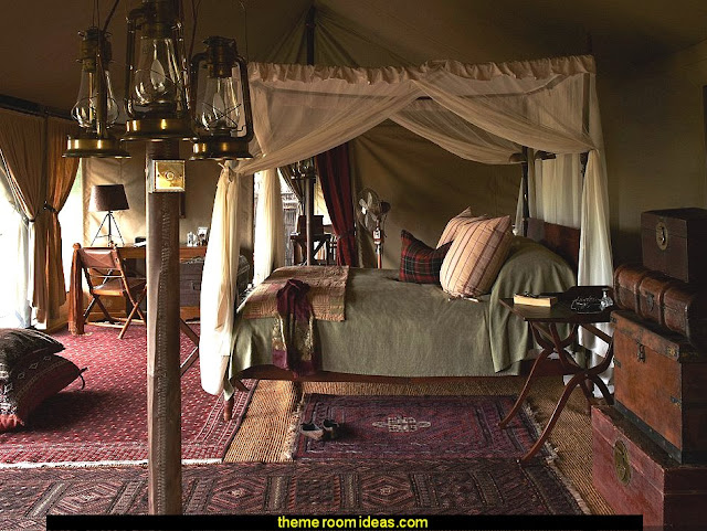 British Colonial Style mixed with old world charm to your  African Safari bedrooms