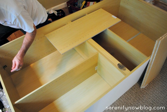 Assembling a WorkBox from The Original ScrapBox (going from craft supply chaos to organization!), at Serenity Now