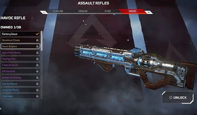 Unlock Havoc,  Apex Legends, Assault Rifle
