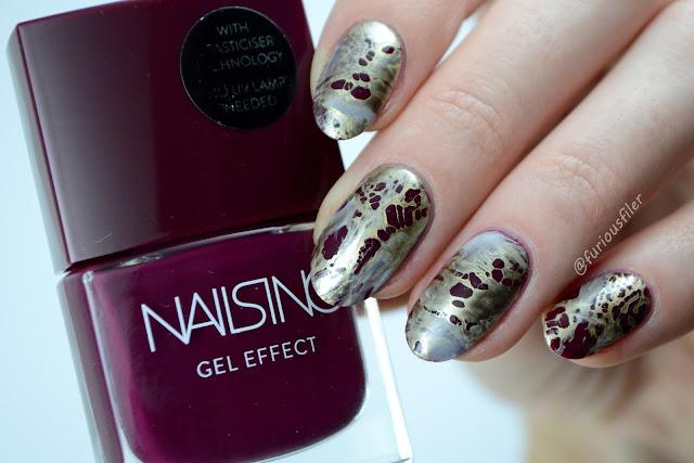 distressed nail art tutorial chrome metallic nails