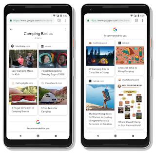 2 Handys mit Google Suchanfragen