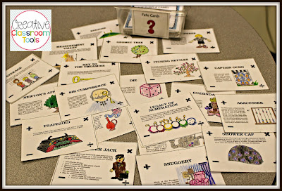 Math Quest is an adventure game that focuses math problem solving strategies.  This highly engaging unit is tiered, making it perfect for a variety of upper elementary grades.  My students love the activities - and, of course, the fate cards!