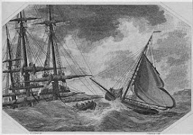 Loss of the Abergavenny, East Indiaman, off the Isle of Portland  by R Cobbold and J Tomlinson (Dorset County Council)