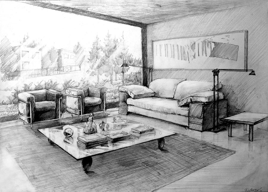 02 interior 01 ukasz dbowski aka hipiz architecture - Interior Design Drawings