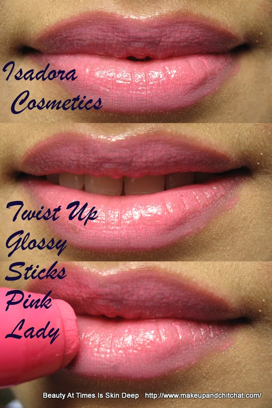 Isadora Twist Up Gloss Sticks Pink Lady