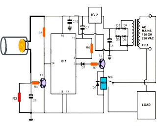 LBL Activated Remote Control Circuit Diagram