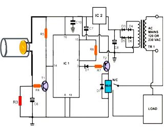 LBL Activated Remote Control Circuit Diagram