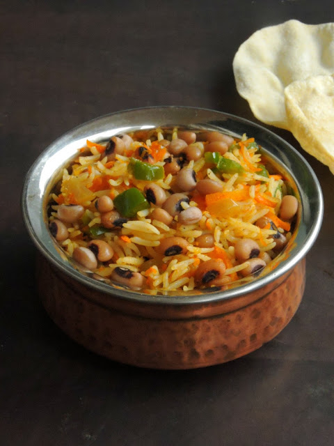 Black-eyed peas Carrot & Capsicum Rice