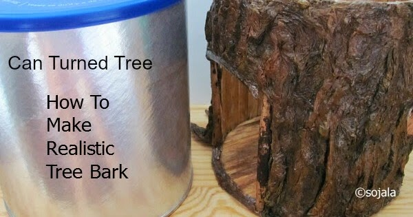 Homemade Obsessions How To Make Realistic Tree Bark