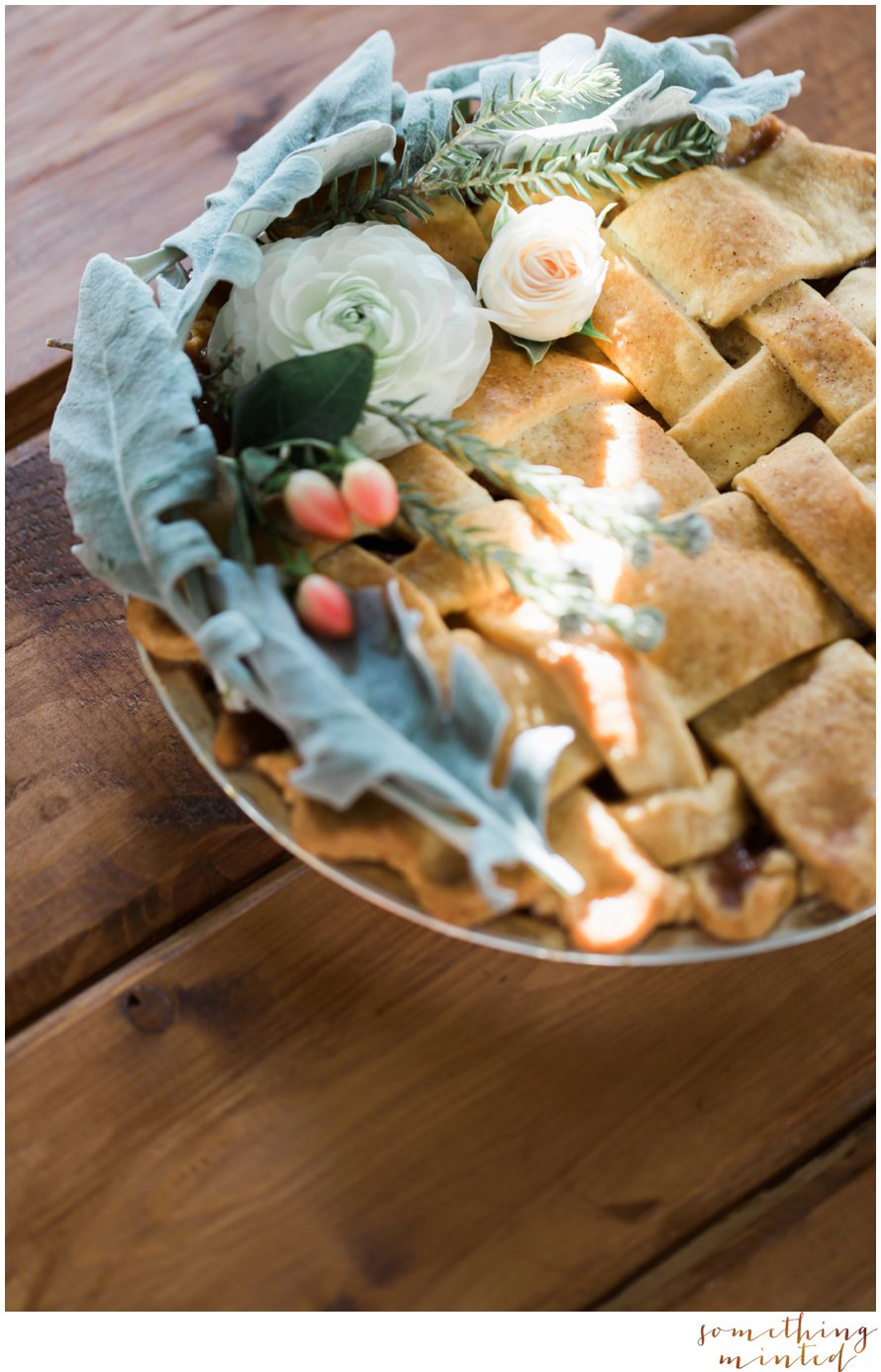 Floral Wedding Pie by Wedding Photographer Something Minted
