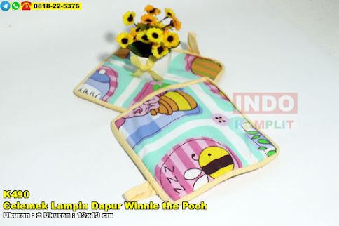 Celemek Lampin Dapur Winnie the Pooh