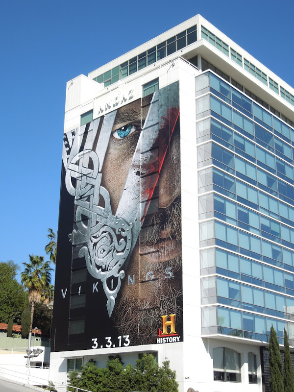 Vikings season 1 billboard Andaz Hotel