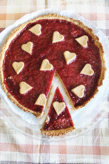 Crostata Vegana con Marmellata alle Fragole