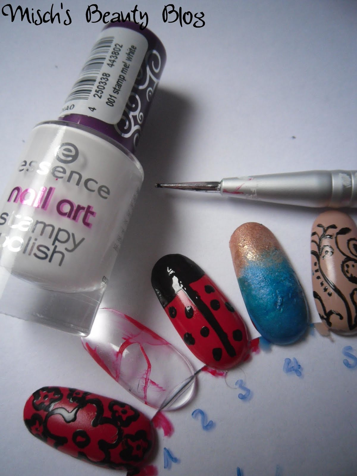 Misch S Beauty Blog Notd September 29th Fall Leaf Nail Art: Misch's Beauty Blog: Picture Tutorial: Ladybug Nail Art