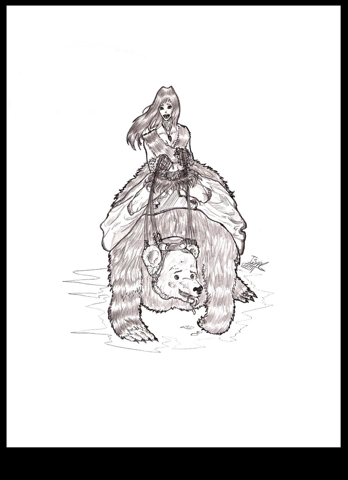 IsaacSanchez_Dibujando: CHICA Y OSO