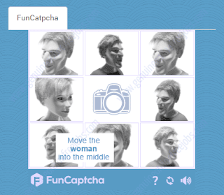 Fun captcha - Moving the women face to the center