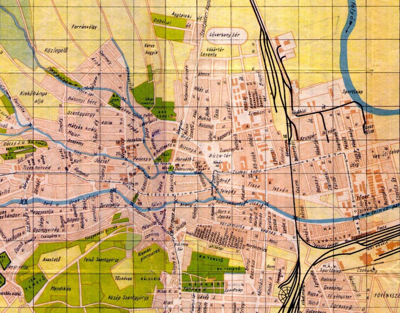 miskolc térkép google Miskolc Blog: A Pece patak ágai egykor és most: 1. a Forrás ág miskolc térkép google