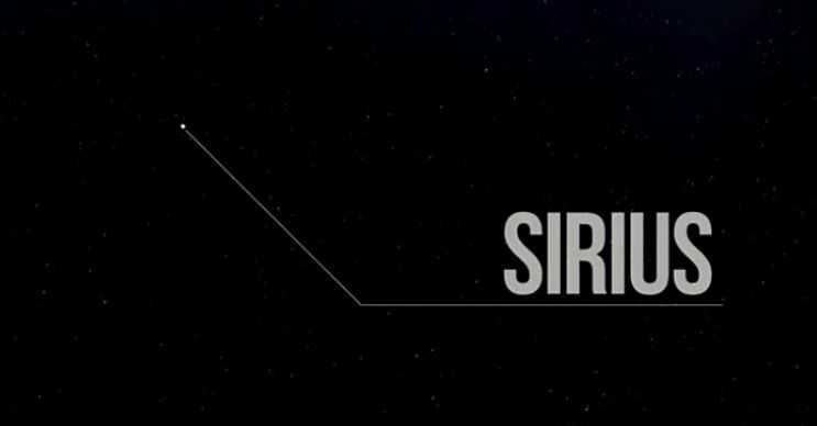Sirius uzaydaki en parlak yıldızdır, güneşten yirmibeş kat daha sıcaktır.