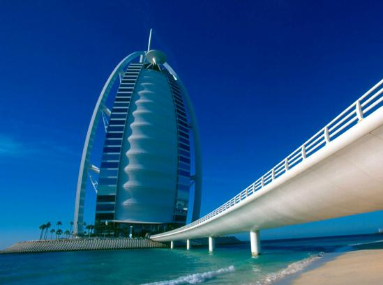 Burj Al Arab the Iconic Arabian vessel Connected by Private Curving Bridge