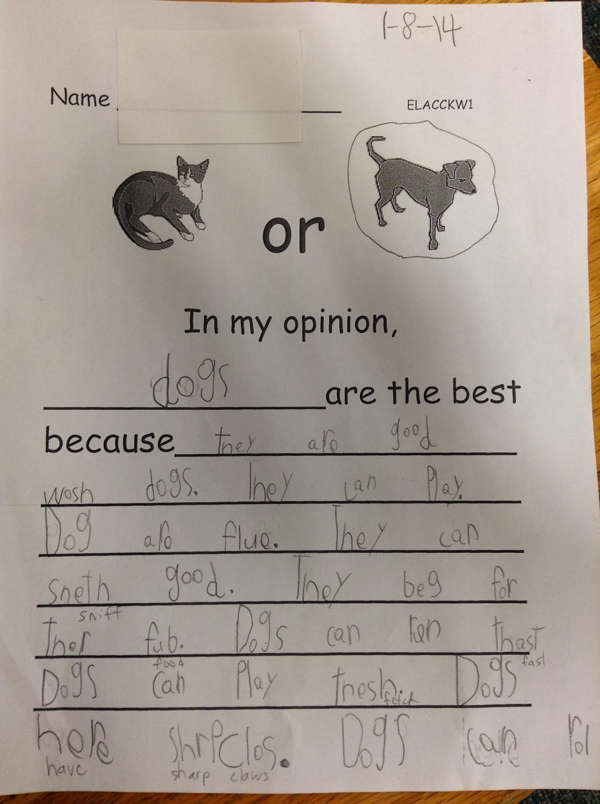 Dr Clements Kindergarten Opinion Writing In Kindergarten