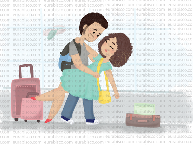 ilustração casal