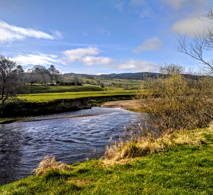 Rothbury Riverside Walk, Picnic Spots & Playground  - countryside views