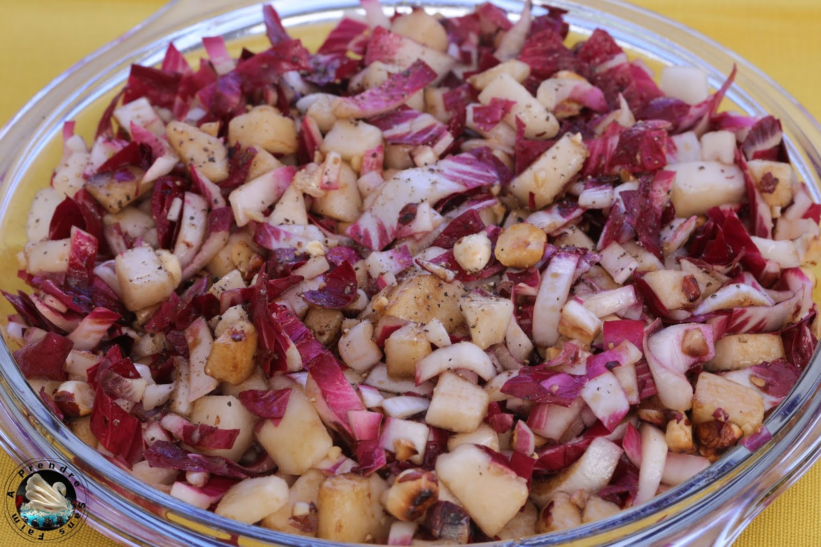 Salade Carmine poires noisettes
