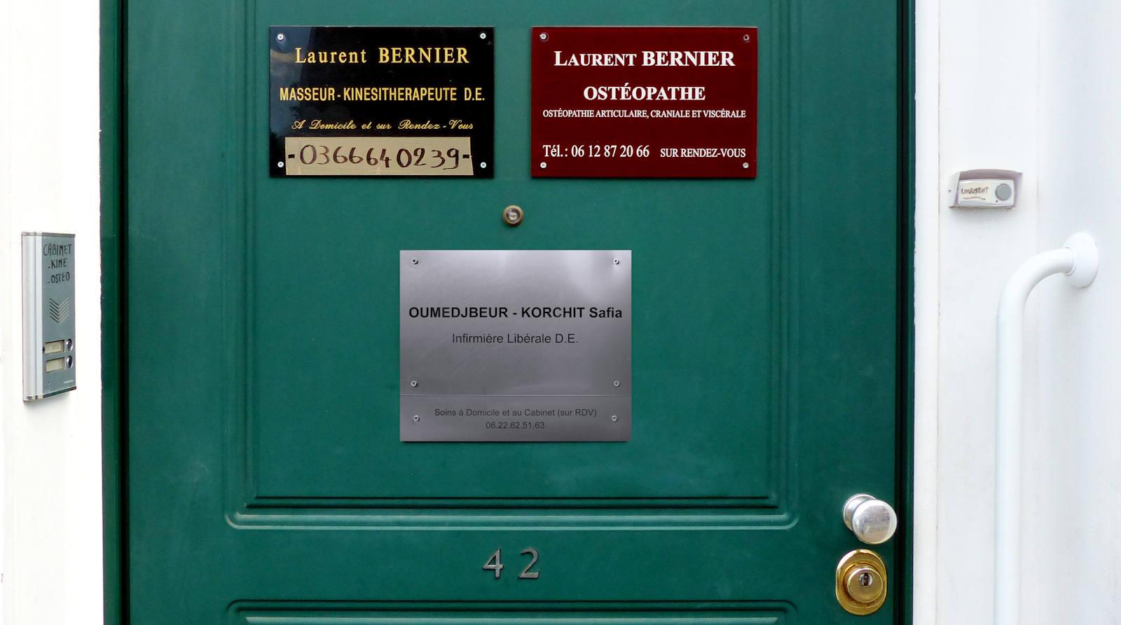 Infirmière Oumedjbeur et Ostéopathe Bernier, Tourcoing, rue des Anges.