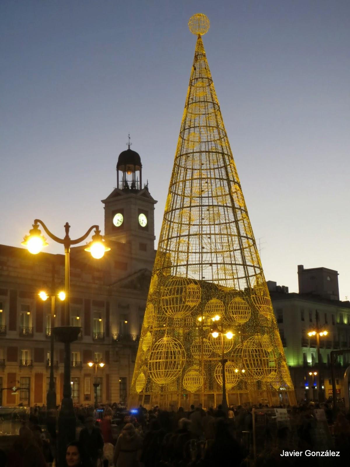 Árbol de Navidad en la Puerta del Sol