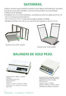 Guitarras de corte Pastelería y Balanzas solo peso.