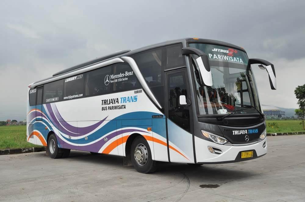 Hasil gambar untuk bus pariwisata trijaya trans