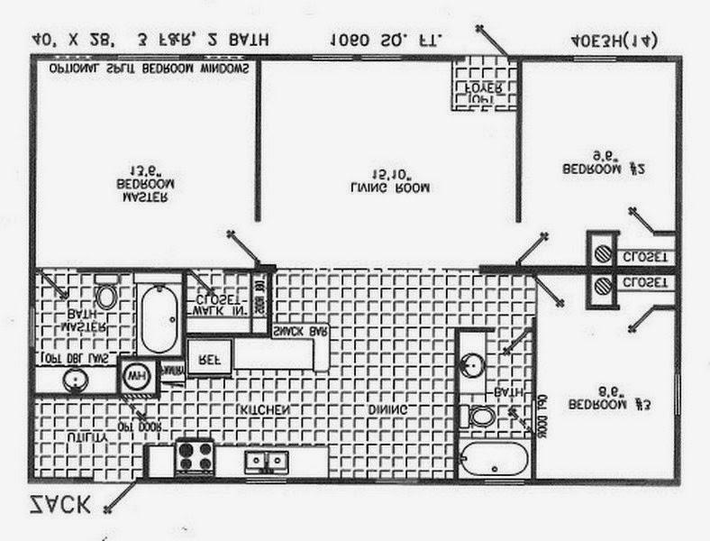 14x60 mobile home floor plans 2 bedrooms bathrooms 7 x 10 for 10 x 7 bathroom floor plans
